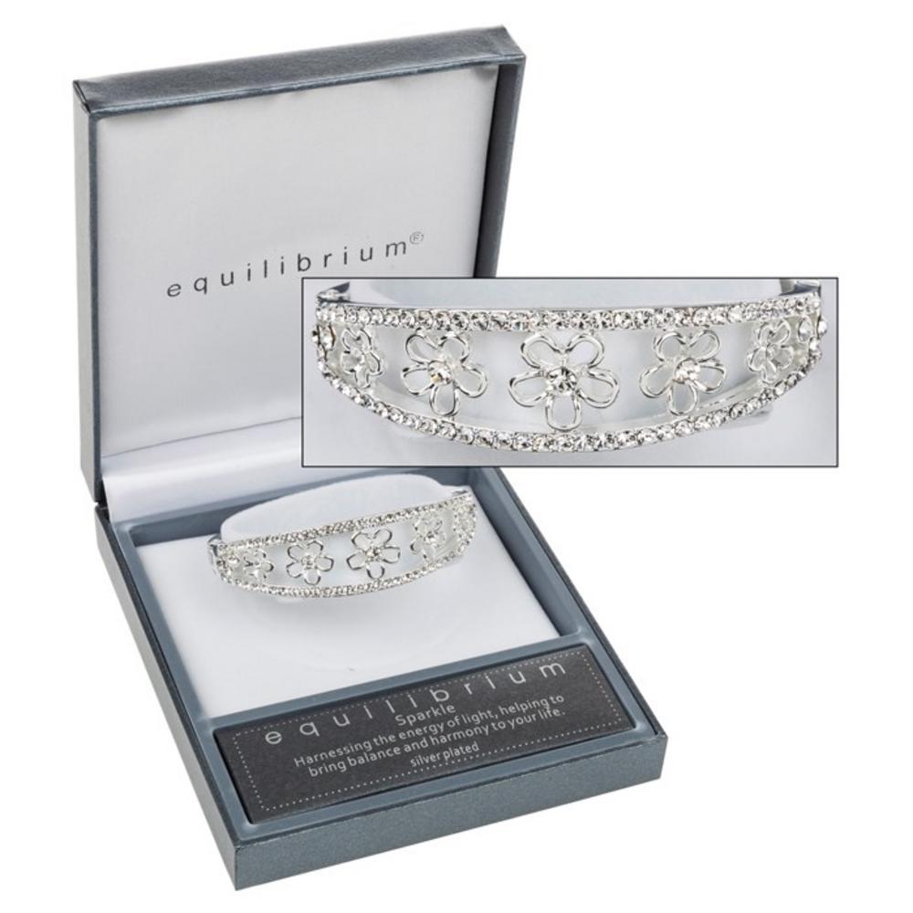 Diamante Flower Bracelet Bangle