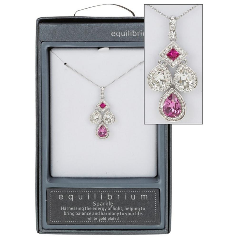 Pink Teardrop Necklace