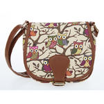 Cream Owl Saddle Bag