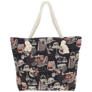 Black Parisienne Tapestry Bag Thumbnail 1