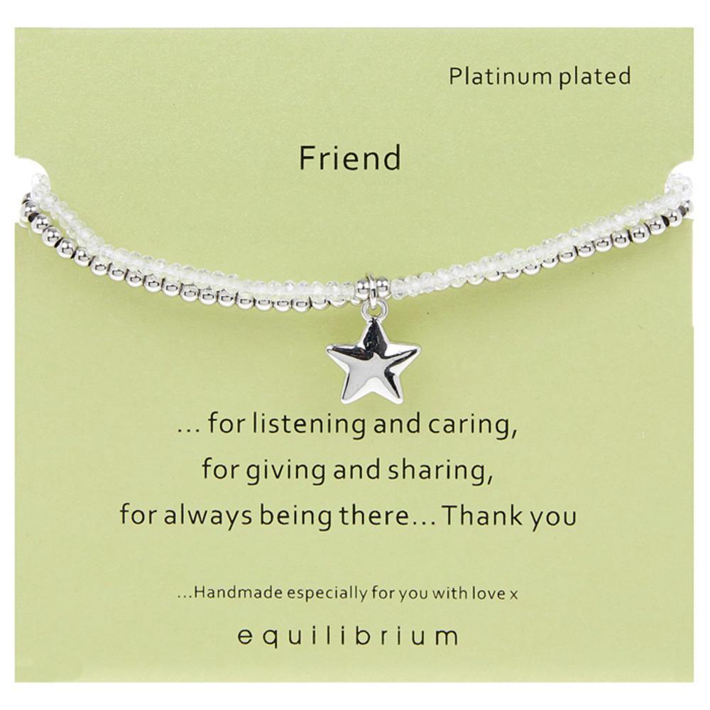 Platinum Plated Message Bracelet Friend