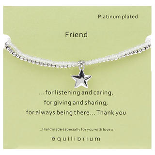 Platinum Plated Message Bracelet Friend Thumbnail 1