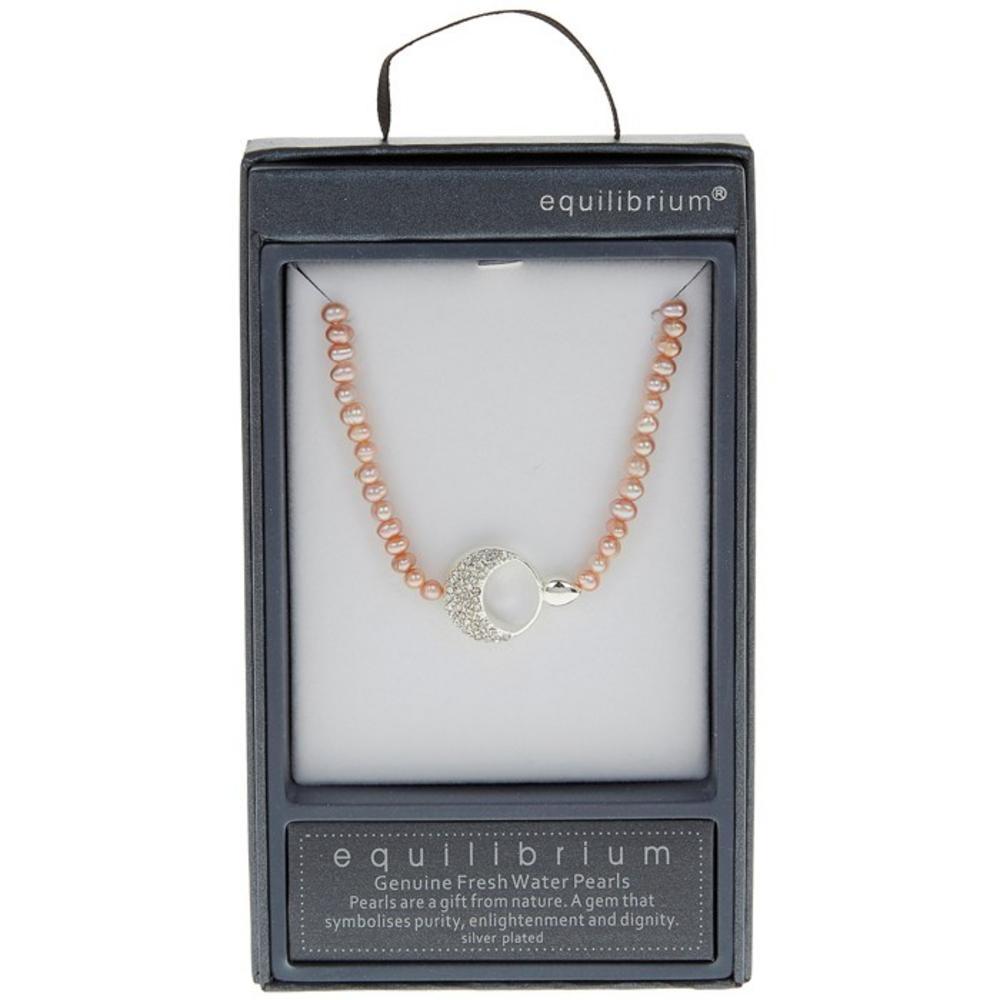 Diamante Half Moon Necklace