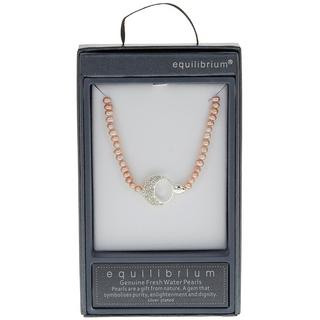 Diamante Half Moon Necklace Thumbnail 1