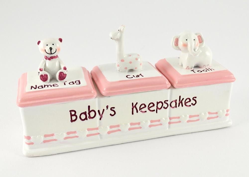 Baby Keepsake Box Triple Girl