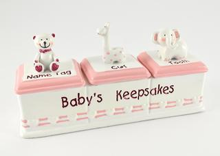 Baby Keepsake Box Triple Girl Thumbnail 1