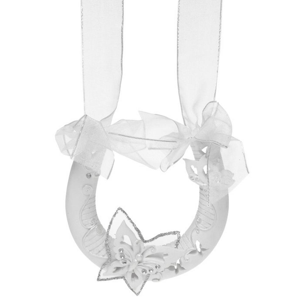 Butterfly Wedding Horseshoe
