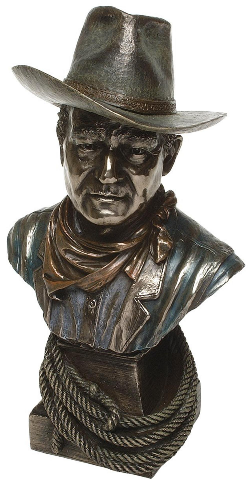 Bronze Cowboy Head Figurine