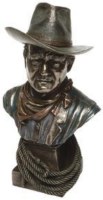 Bronze Cowboy Head Figurine