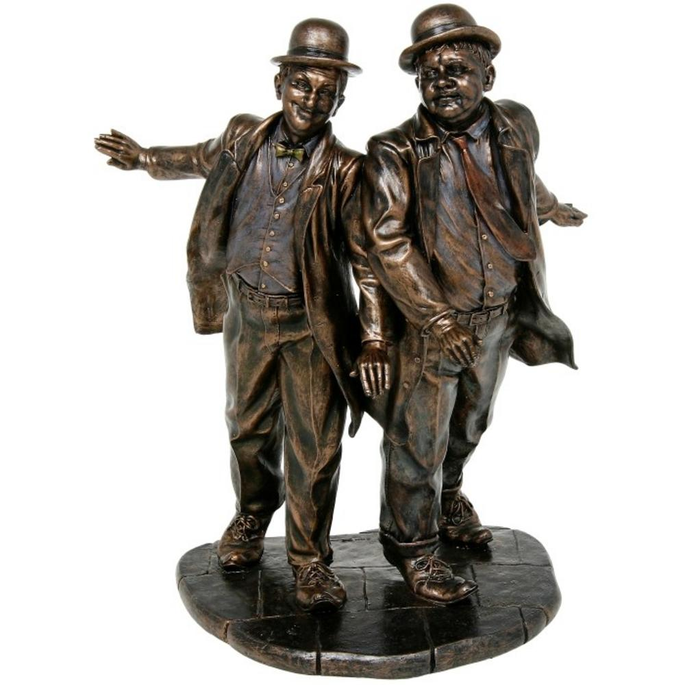 Laurel and Hardy Bronze Bust