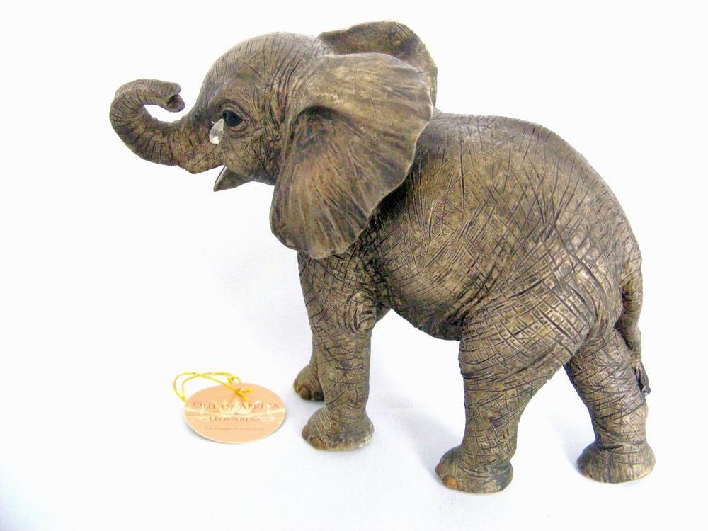 Baby Jungle Elephant Tear Drop Figurine