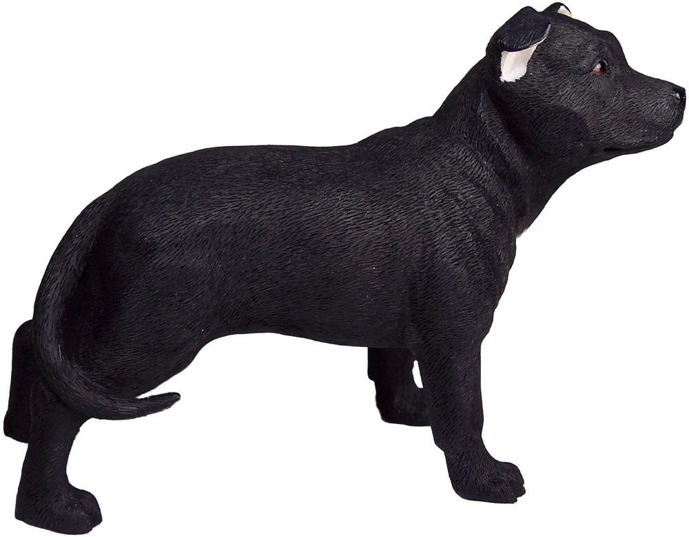 Black Staffordshire Terrier Figurine