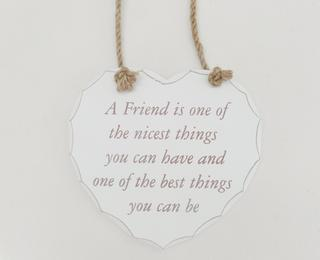 Shabby Chic Heart Nice Friend Plaque Thumbnail 1