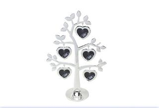 The Leonardo Collection Silver Love Heart Family Tree 5 Photo Frame  Thumbnail 1
