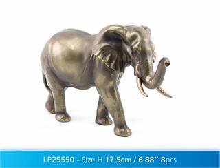 Reflection Bronze Elephant Thumbnail 1