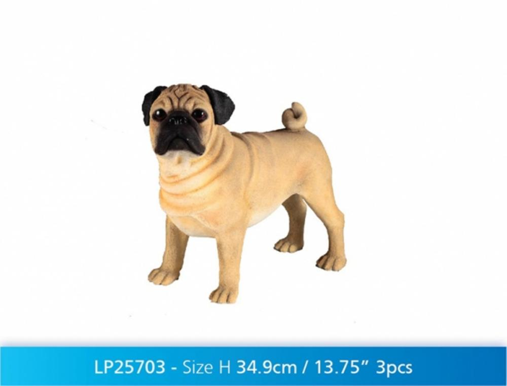 Large Pug Dog Ornament