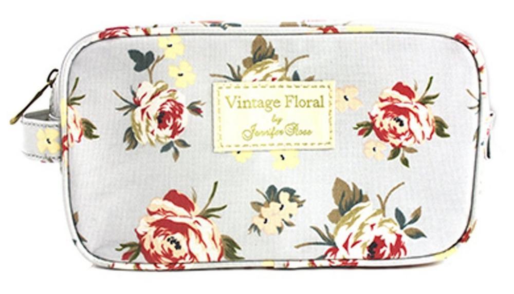 Ladies Vintage Floral Cosmetics Wash Bag