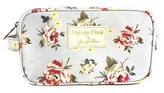 Ladies Vintage Floral Cosmetics Wash Bag Thumbnail 1