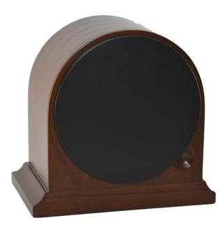 Mahogany Wood Finish Arch Mantel Clock Thumbnail 2