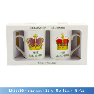 His Lordship & Her Ladyship Gift Set Fine China Thumbnail 1