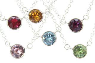 Pure Jewellery Swarovski Birthstone Necklace Thumbnail 1