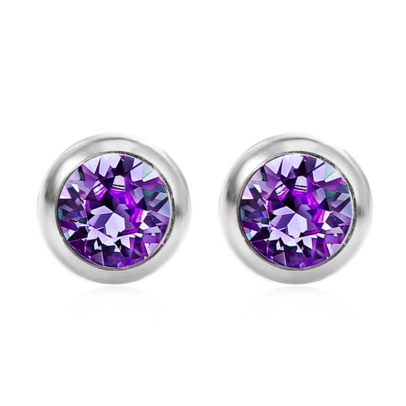 Pure By Coppercraft Swarovski Birthstone Stud Earrings Perfect