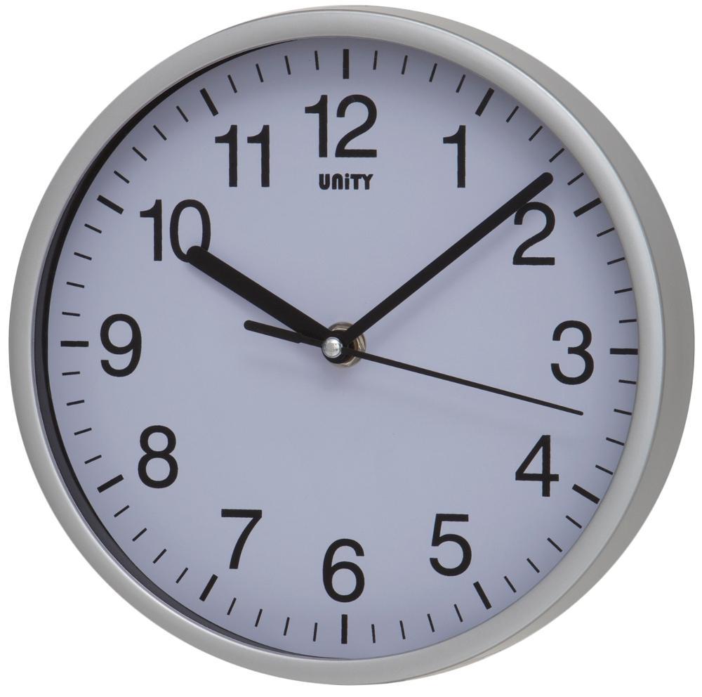 Radcliffe Sweep Clock in Silver
