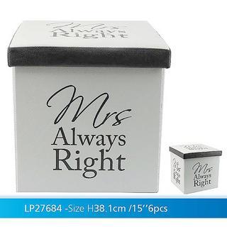 Fold Up Store Box Mrs Right Thumbnail 1