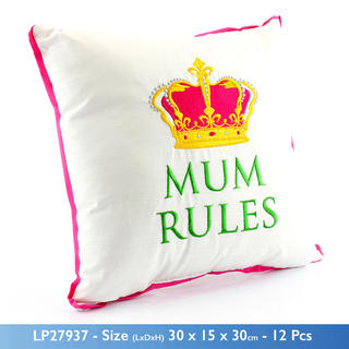 Mum Rules Cushion Thumbnail 1