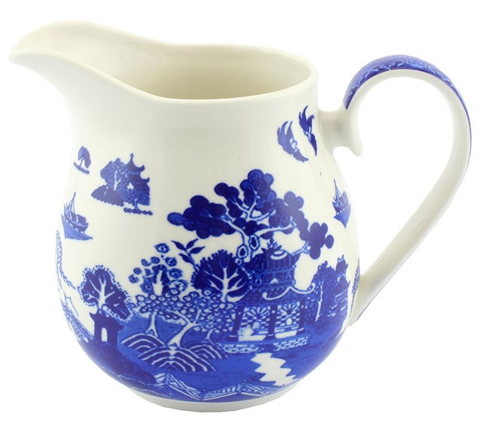 Blue Willow Jug Large