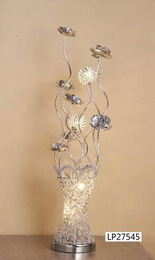 Crystal Vase Lamp Silver Small 80cm Tall Thumbnail 2