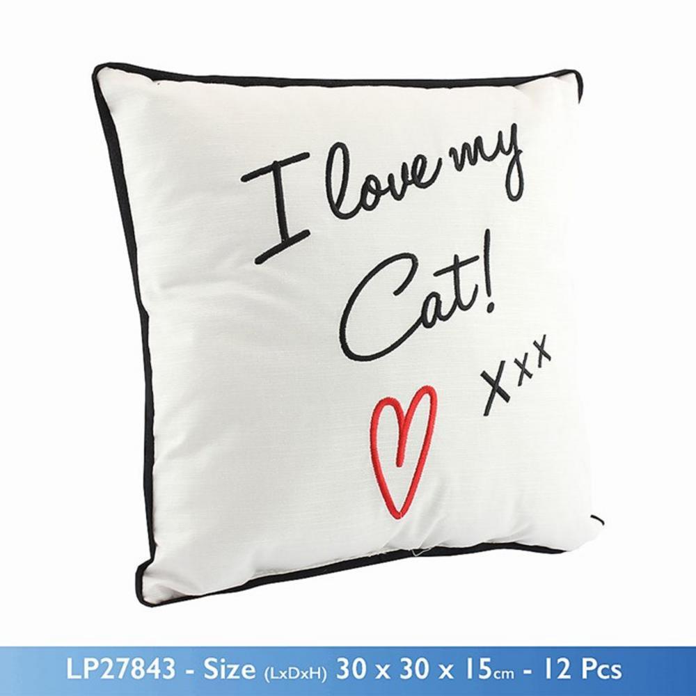 I Love My Cat Cushion