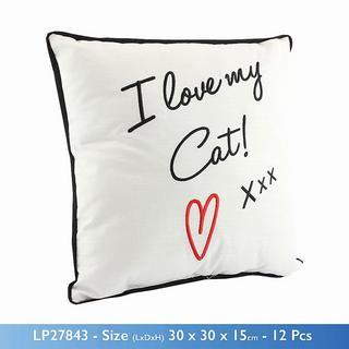 I Love My Cat Cushion Thumbnail 1