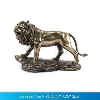 Art Bronze Jungle Lion Thumbnail 2