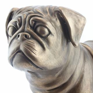 Art Bronze Pug Thumbnail 1
