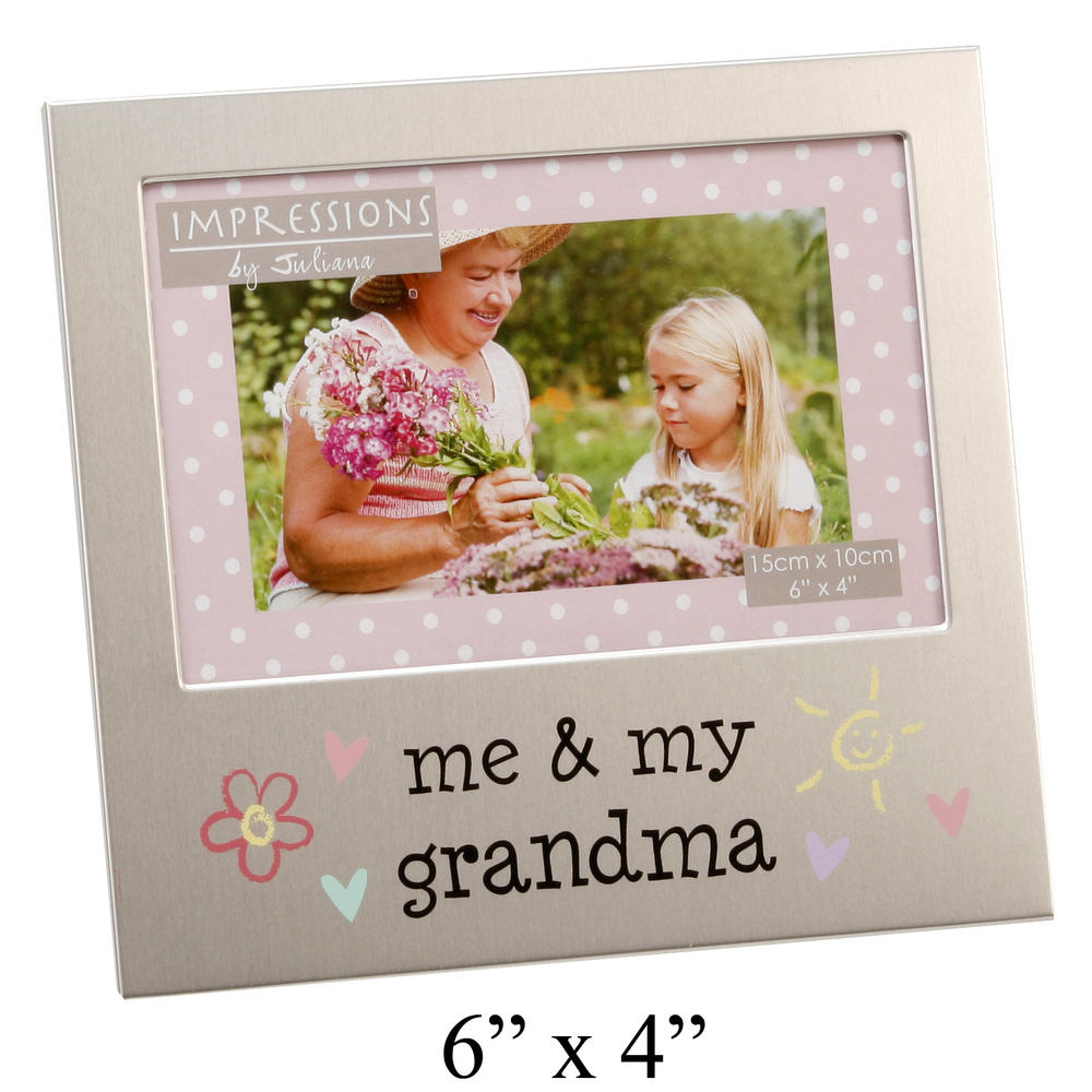 "Juliana Aluminium Picture Photo Frame 4"" X 6"" - Me & My Grandma"