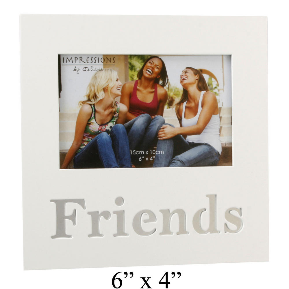 Juliana Mdf Picture Photo Frame Cut Out Mirror Letters 6X4 - Friends W200 X H200