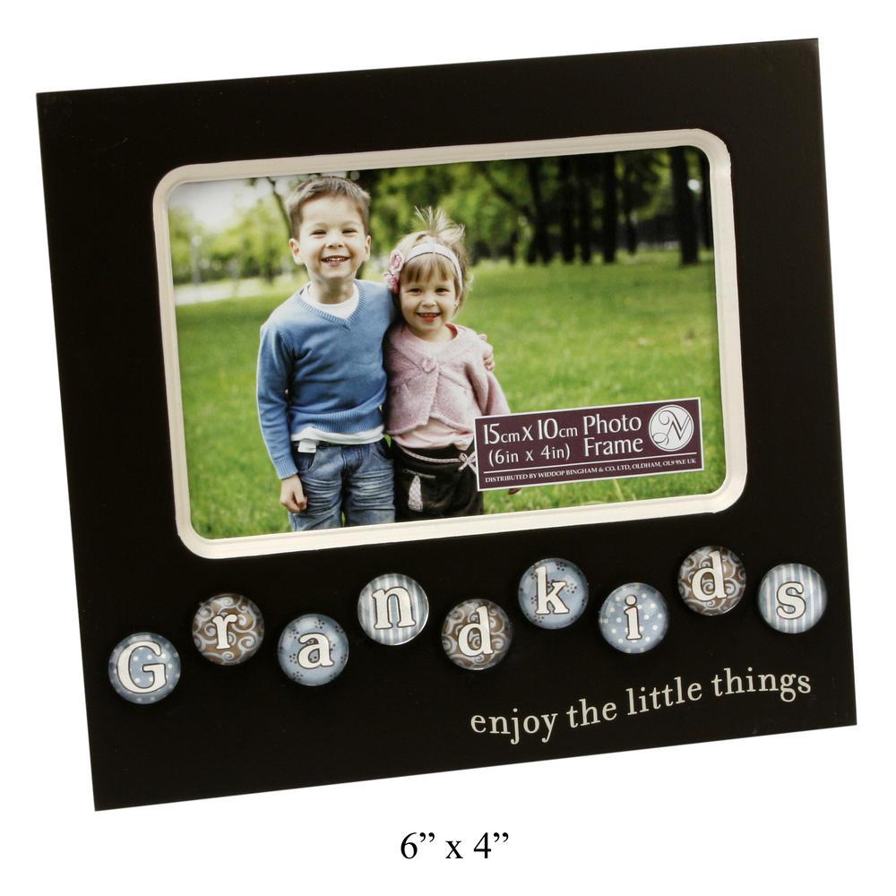 New View Mdf Bubble Tile Picture Photo Frame - Grandkids W198 X H180 X D10