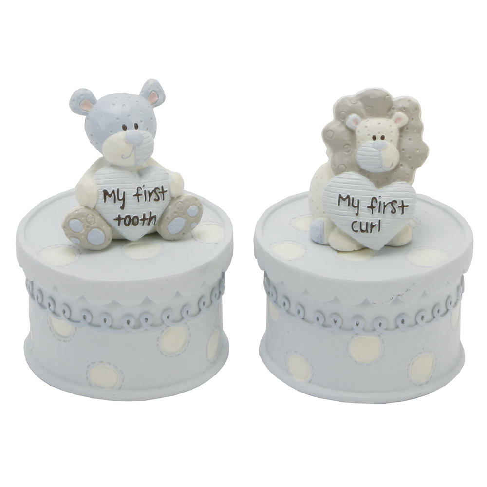 Tracey Russell Polka Dot Collection First Tooth & Curl Boxes Boy W60 X H80 X D60