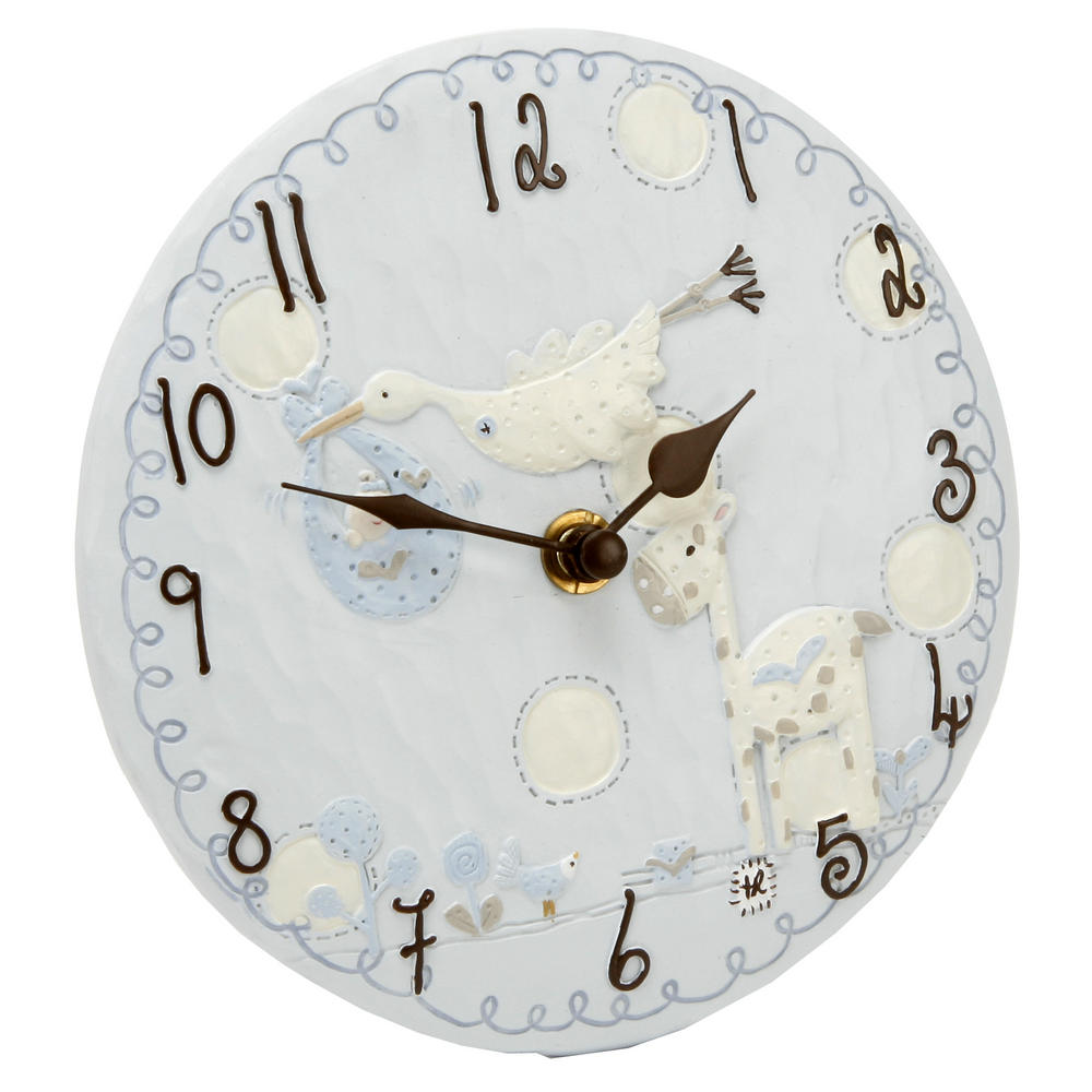 Tracey Russell Polka Dot Collection Resin Mantel Clock - Blue W155 X H155 X D45