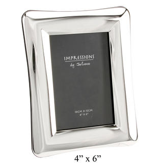 """Juliana Picture Photo Frame Shiny Silverplated Domed Design 4"""" X 6"""" Thumbnail 1"""