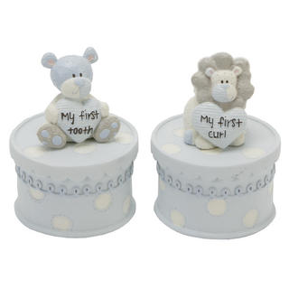 Tracey Russell Polka Dot Collection First Tooth & Curl Boxes Boy W60 X H80 X D60 Thumbnail 1