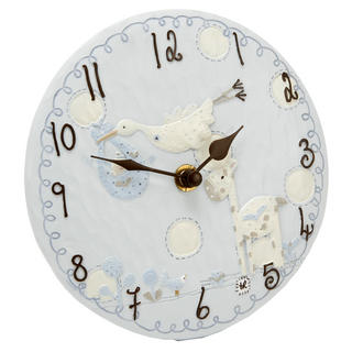 Tracey Russell Polka Dot Collection Resin Mantel Clock - Blue W155 X H155 X D45 Thumbnail 1
