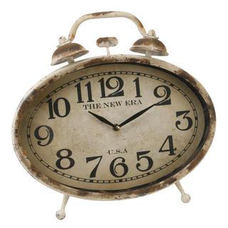 Juliana Home Living Shabby Chic Mantel Clock Double Bell W320 X H280 X D240 Thumbnail 1