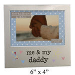 "Juliana Aluminium Picture Photo Frame 4"" X 6"" - Me & My Daddy"