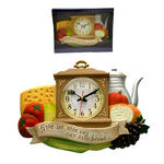 "QUARTZ WALL CLOCK ""GIVE US THIS DAY OUR DAILY BREAD"" MODERN KITCHEN"