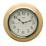 "WBL 10"" NATURAL/CHROME ARABIC DIAL CLOCK W265 X H265 X D30"