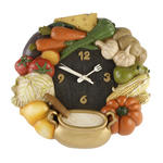 Wall Clock Plastic Kitchen Clock With Vegetables W285 X H280 X D50