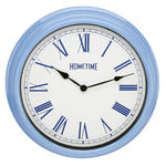 HOMETIME PLASTIC CASE WALL CLOCK PALE BLUE 40CMS