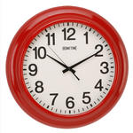 HOMETIME WALL CLOCK SHINY METAL CASE PORTHOLE SHAPE RED 46CM W460 X H460 X D90